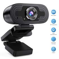 Webcam with Microphone,HD1080p USB Webcam Laptop USB Computer Camera for Streaming Gaming Conferencing Compatible with OBS Xbox Skype Facebook OBS Twitch YouTube Xsplit Mac OS Windows 10/8/7