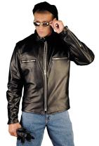REED Men's Naked Cow Leather Motorcycle Jacket Made in USA