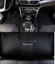 Worth-Mats Custom Fit Luxury XPE Leather Waterproof Floor Mat for 2004-2005 Lexus LS 430, Black with Black Stitching