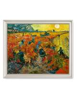 DECORARTS - The Red Vineyards, Vincent Van Gogh Art Reproduction. Giclee Print& Framed Art for Wall Decor. 20x16, Framed Size: 23x19