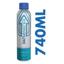 PATHWATER Purified Flouride Free Water in Eco-Friendly, Sustainable BPA Free Reusable Recyclable Durable Light Weight Leak Proof Sleek Aluminum Bottle (740 mL, 25 Ounces, Single Bottle)