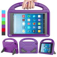 LEDNICEKER Kids Case for Fire HD 8 2018/2017 - Shockproof Handle Friendly Convertible Stand Kids Case for Fire HD 8 inch Tablet (7th & 8th Generation Tablet, 2017 & 2018 Release) - Purple