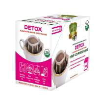 SOLLO Detox Coffee Bags 16 Per Pack 100% Arabica Coffee with Active Herbal Extracts Weight Loss, Diet, Slimming and Cleaning, USDA Organic, Drip Brewing Bags