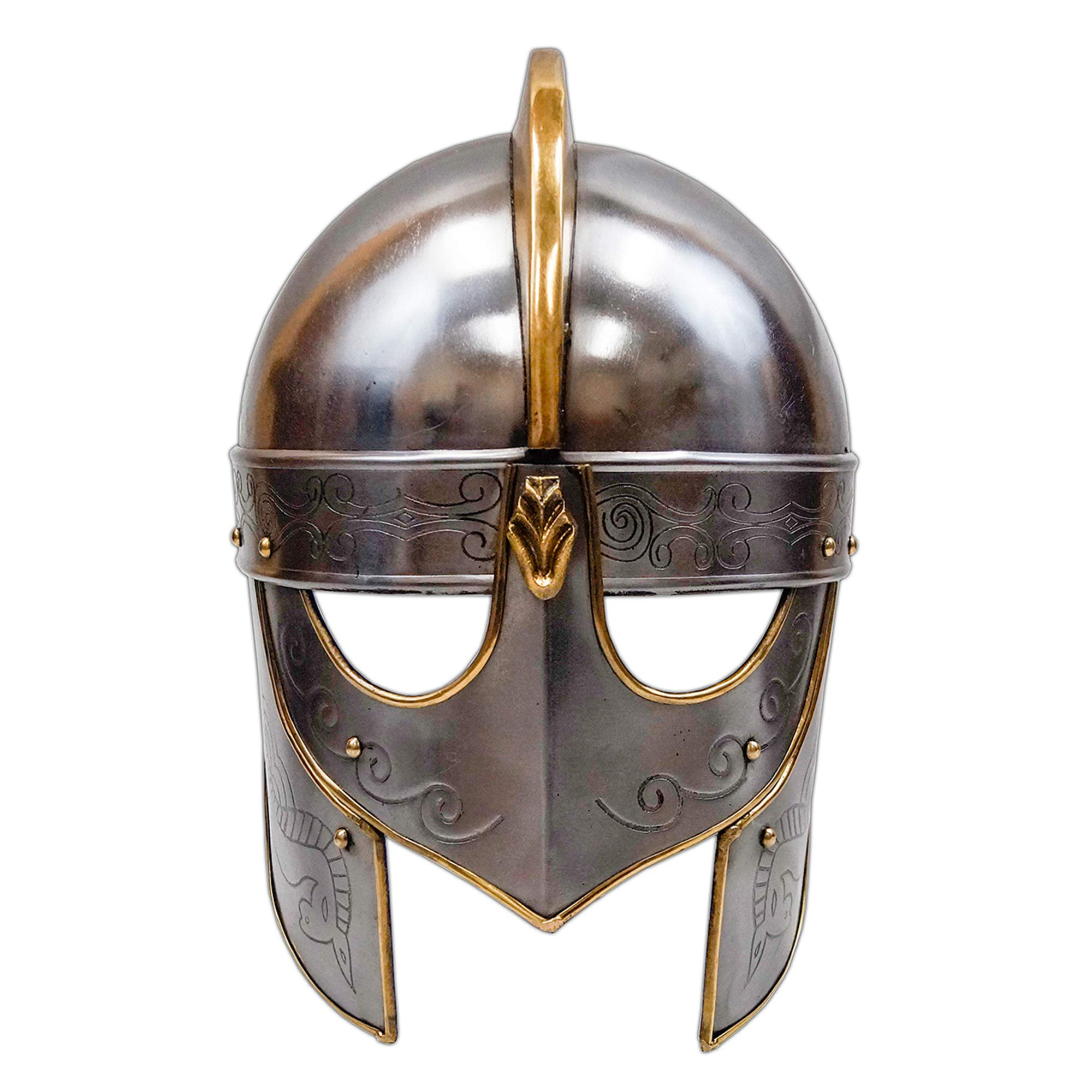 Medieval Viking Crusader Helmet Warrior Armor Knight Adult Costume Functional