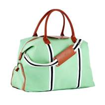 Saint Maniero Unisex Gym Bag Water-Repellent and Hand Luggage Compliant with Shoe Compartment 55x30x25cm 41 Liters Mint Green