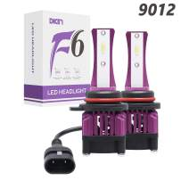 9012 LED Headlight Kit 6000K White 16000lm Headlight Bulbs for Fog Light/High Beam/Low Beam Extremely Bright with Fan CSP Chips, 1 Pair, 2 Yr Warranty