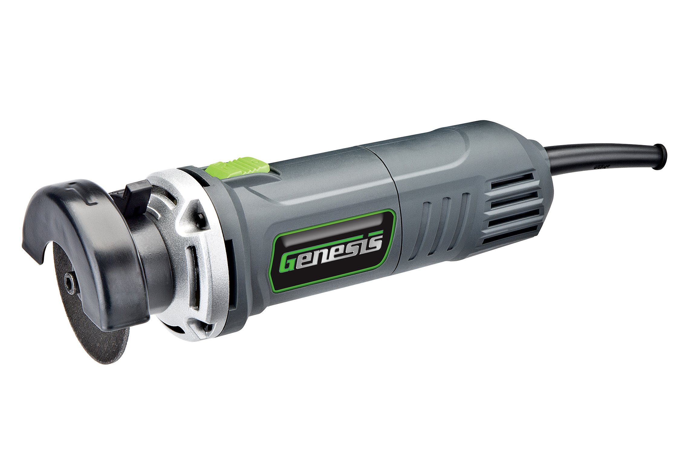 """Genesis GCOT335 3"""" 3.5 Amp High Speed Corded Cut Off Tool with Quick-Release Adjustable Guard and Safety Switch"""