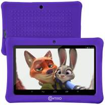 "[Upgraded] Contixo K1 HD 7"" 6.0 Android Tablet for Kids, Bluetooth WiFi Dual Camera Parental Controls for Children with Durable Protection Case, Pre-Installed Learning Games & Education Apps - Purple"