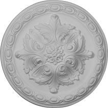 "Ekena Millwork CM11AC Acanthus Ceiling Medallion, 11 3/8""OD x 2""P, Factory Primed"