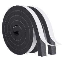 Foam Weather Stripping-2 Rolls, 1 Inch Wide X 3/4 Inch Thick Adhesive Foam Tape Weatherstrip Sound Proof Insulation Closed Cell Foam Window Seal Total 13 Feet Long(6.5ft x 2 Rolls)