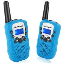Wishouse Walkie Talkies for Kids,Fashion T3-12 Years Old Boy Gifts, Easy to Use and Safety Kids Toys, Walkie Talkies for Kids Birthday Gifts(388 Blue 1 Pair)