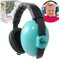 Fridaybaby Baby Ear Protection (0-2+ Years) - Comfortable and Adjustable Noise Cancelling Baby Ear Muffs for Infants & Newborns   Baby Headphones Noise Reduction for Airplanes Fireworks Concerts, Blue