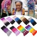 24 inch Jumbo Braiding Hair Jumbo Braid Hair Extensions Jumbo Box Braids Crochet Hair Long Rainbow Colorful for Women Kids DIY High Temperature Synthetic Fiber Dark Green 6 Bunldes