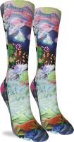 Good Luck Sock Women's Fairy Succulents Crew Socks - Purple, Adult Shoe Size 5-9