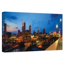 ArtWall Cody York 'Cleveland 8' Gallery-Wrapped Canvas Artwork, 08 by 24-Inch