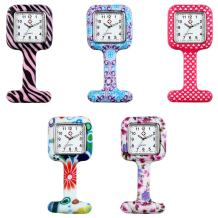 Nurse Watch for Women and Men Pin-on Brooch Lapel Hanging Badge Medical Doctors Square Silicone Quartz Fob Pocket Watch