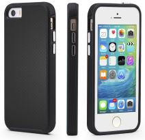 CellEver iPhone 5/5s/SE (2016 Edition) Case, Dual Guard Protective Shock-Absorbing Scratch-Resistant Rugged Drop Protection Cover For iPhone 5/5S/SE (Black)