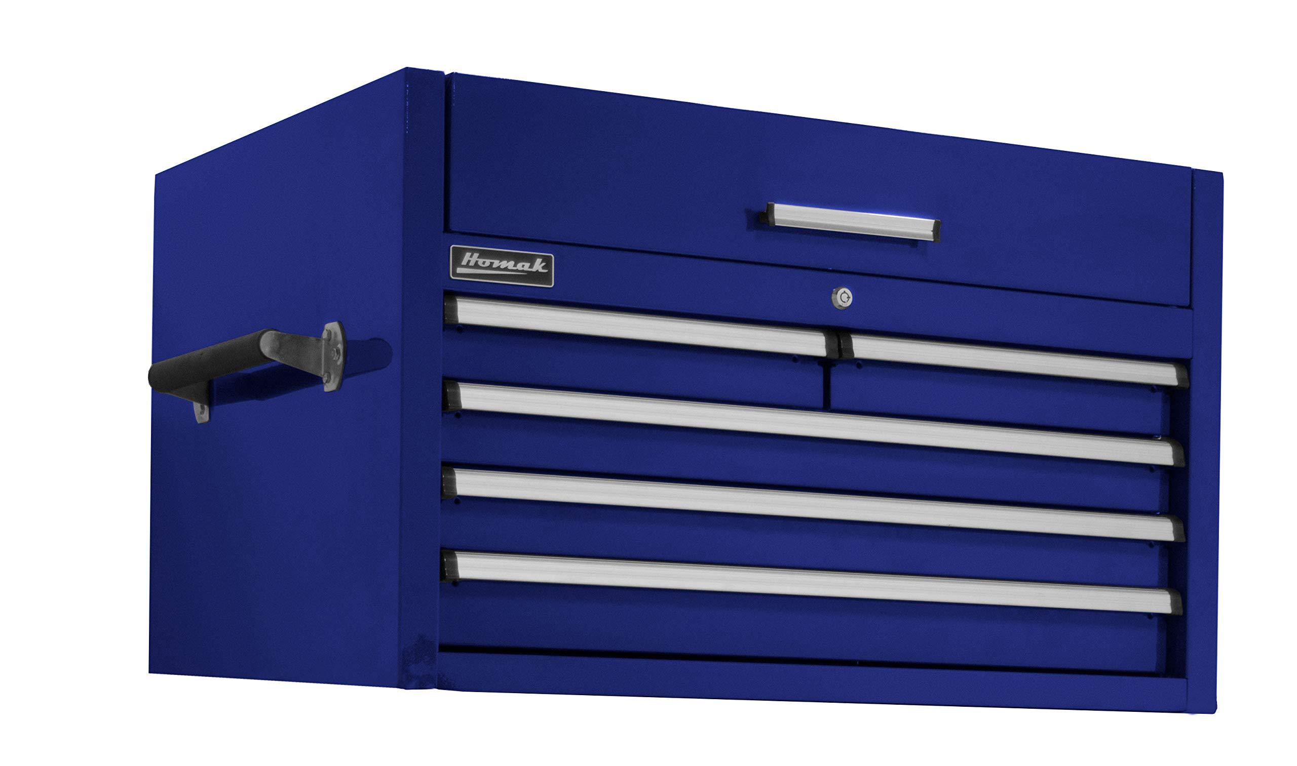 "Homak PRO II Series 36"" 5-Drawer Top Chest, Blue, BL02036052"