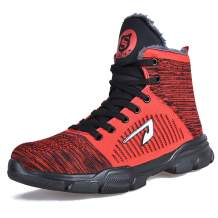JACKSHIBO Men Women Steel Toe Work Shoes Indestructible Safety Shoes Winter Industrial Construction Slip Resistant Shoe
