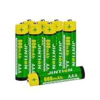 JINTION AAA Rechargeable Batteries, 8 Pack, NiMh Triple A 600mAh, Rechargeable AAA Batteries for Solar Garden Lights, Solar Lanterns