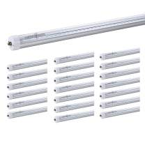 LUMINOSUM, T8 LED Tube Light 8 Feet 40W, Single Pin FA8 Base, Clear Cover, Cool White 6000k, Fluorescent Tube Replacement, ETL Certified, 20-Pack