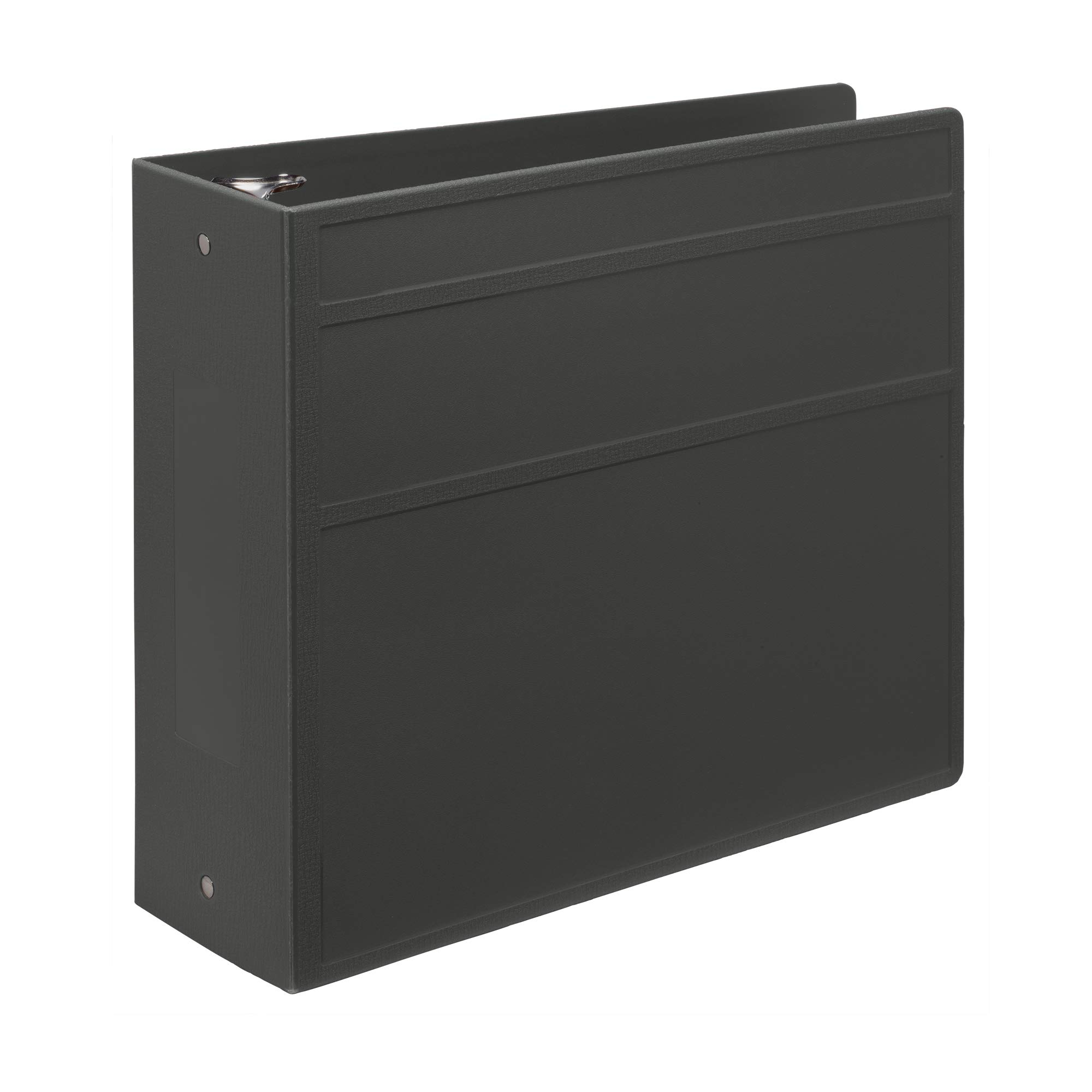 Carstens 4- Inch Heavy Duty 3-Ring Binder - Side Opening, Charcoal Gray