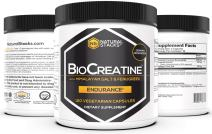 Natural Stacks BioCreatine Supplement 120ct - 2,500mg Ultra Micronized Creatine Capsules - Himalayan Pink Salt and Fenugreek Seed Extract for Rapid Absorption & Muscle Building - Keto, Vegan and Non GMO