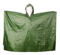 Aircee Camo Rain Poncho, Multi-use Rainwear, Military Reusable Raincoat for Hiking Camping, Ground Sheet, Shelter Tent