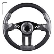 LEAPGO Golf Cart Steering Wheel or Adapter for Golf Cart Club Car DS and Club Car Precedent EZGO Yamaha Golf Carts