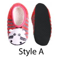 Adult Warm Microfiber Travel Cute Animal Furry Non-Slip Lined Slippers, Home Cozy Slip On