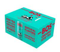 BOS Organic Iced Tea - Naturally Caffeine Free and Antioxidant Rich - Made with Rooibos (Lime & Ginger, 8 Pack)