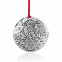 Wendell August Santa's Puppies Ornament