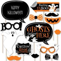 Big Dot of Happiness Spooky Ghost - Halloween Party Photo Booth Props Kit - 20 Count