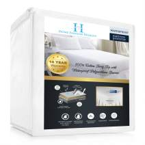 Home Fashion Designs Twin Premium Mattress Protector- Anti-Bacterial, Hypoallergenic 100% Waterproof, Vinyl Free & Deep Pockets