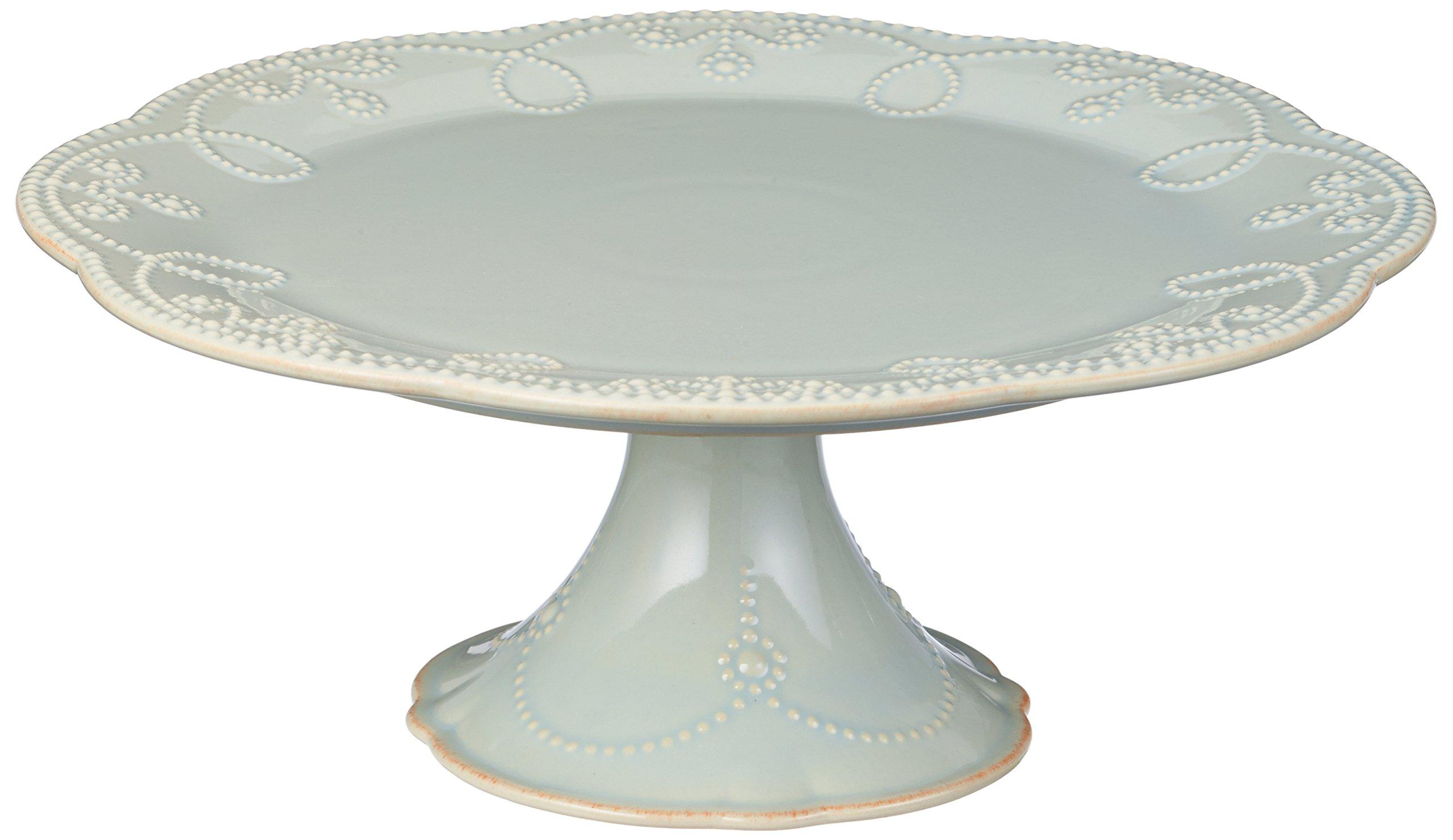 Lenox French Perle Pedestal Cake Plate, Medium, Ice Blue - 824766
