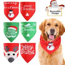 TRAVEL BUS Christmas Dog Bandana Reversible, Christmas Pets Scarf Triangle Bibs Kerchief Set Pet Costume Accessories Decoration for Small Medium Large Dogs Cats Pets (3 Pack)