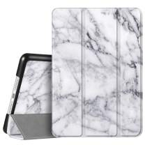 """Fintie Case for iPad 7th Generation 10.2 Inch 2019 - Lightweight Slim Shell Standing Hard Back Cover with Auto Wake/Sleep Feature for iPad 10.2"""" Tablet, Marble White"""
