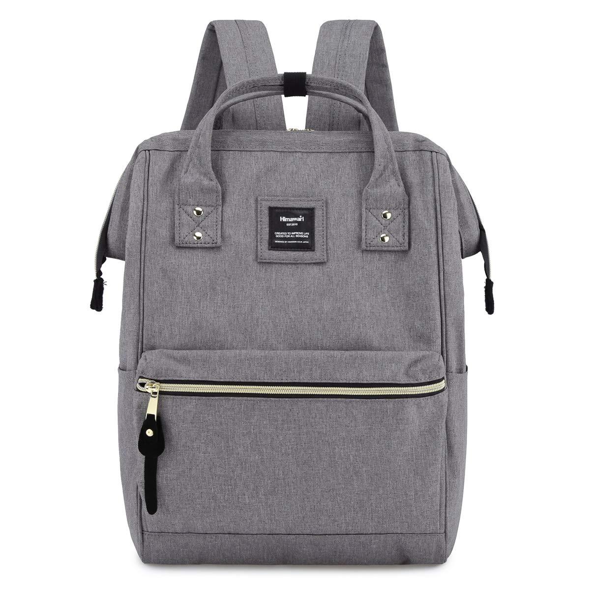 Himawari Laptop Backpack Travel Backpack With USB Charging Port Large Diaper Bag Doctor Bag School Backpack for Women&Men (9001-Gray)