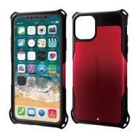 ELECOM Zero Shock Case & Film/Compatible with iPhone 11 Pro Max/Film Included/Full Protection/Bumper/RED PM-A19DZERORD