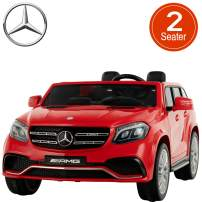 Uenjoy 2 Seater 12V Licensed Mercedes-Benz GLS63 AMG Kids Ride On Car Electric Cars Motorized Vehicles for Kids, with Remote Control, Music, Horn, Spring Suspension,Compatible Mercedes-Benz, Red