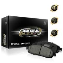 American Black ABD537M Professional Semi-Metallic Rear Disc Brake Pad Set Compatible With Acura CL/ILX/Integra Type R/RSX/TL/TSX - OE Premium Quality - Perfect fit, QUIET & DUST FREE