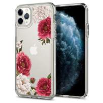 CYRILL Cielby [Red Flowers Transparent] Compatible with iPhone 11 Pro Case Soft TPU with Hard PC Back iPhone 11 Pro Case (077CS27266) Red Flower Protective Case