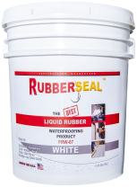 Rubberseal Liquid Rubber Waterproofing and Protective Coating - Roll On WHITE (5 Gallons)