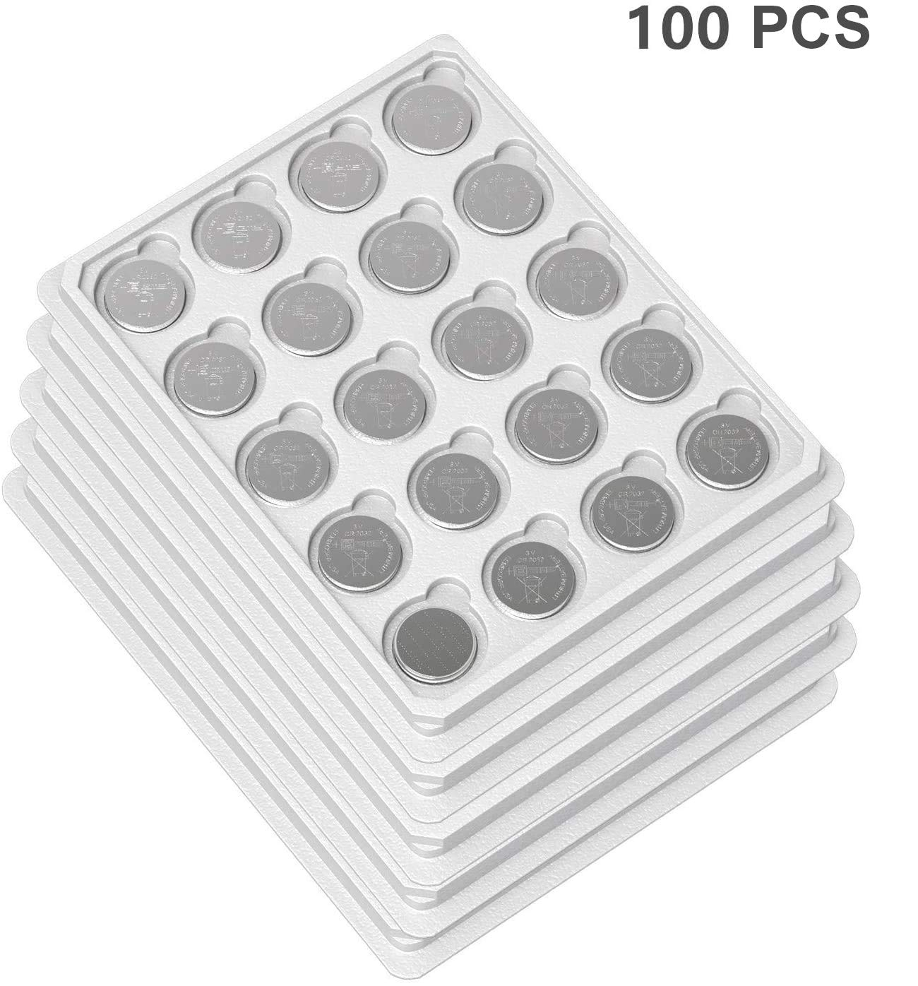 EEMB CR2032 Battery- Button Coin Cell Lithium Battery 3 V 210 mAh Replacement Battery Perfect UL Certified for Watches, Car Key Remotes, Alarm Clock Toys (100PCS)