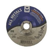 "Mercer Industries 623505 All Metals Grinding Wheel, 4"" x 1/4"" x 5/8"", Single Grit, 25 Pack"