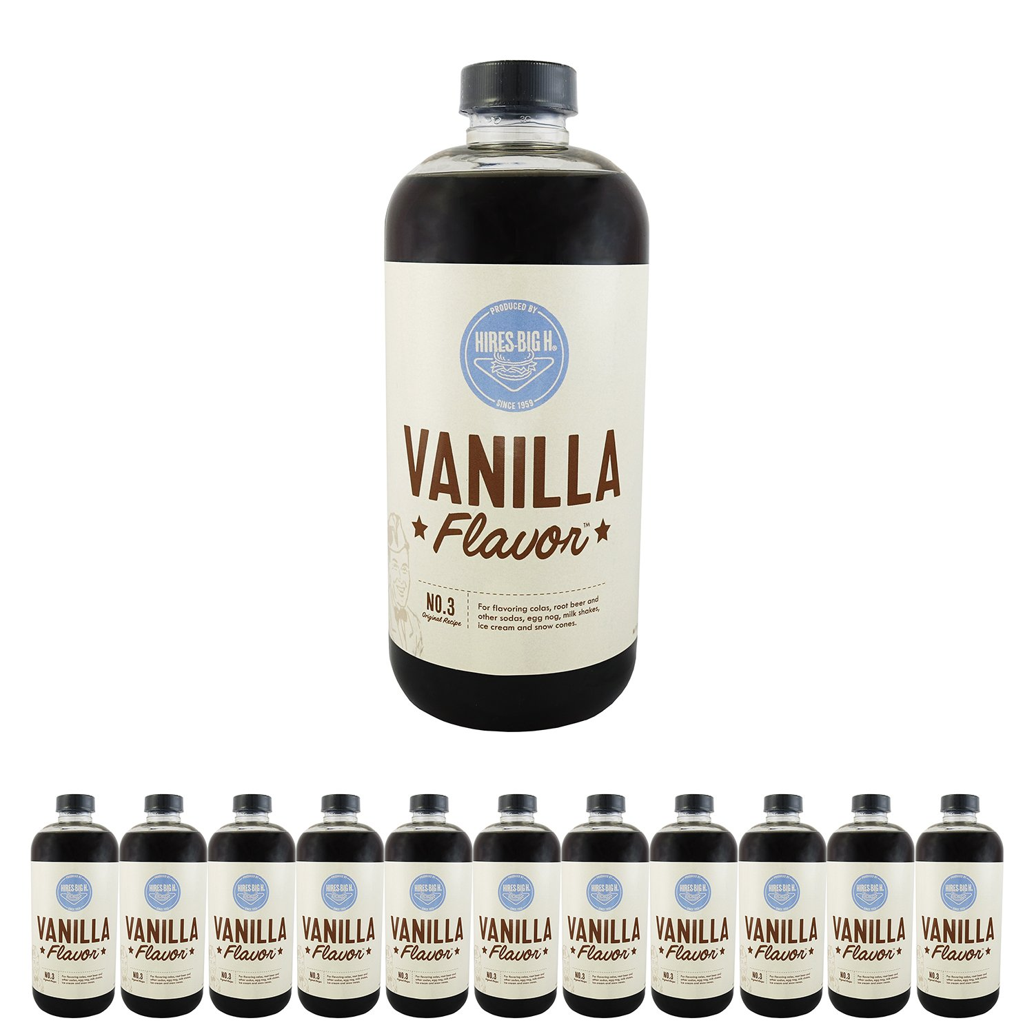 Hires Big H Vanilla Syrup, Great for Soda Flavoring 18 oz - 12 Pack