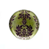 Red Pomegranate Damask Salad Plate Green Purple 8.5-Inch