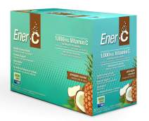 Ener-C - Vitamin C Immune Support, 1000mg Vitamin C Effervescent Multivitamin Drink Powder, Fruit Juice Vitamin C Drink Mix for Hydration with Electrolytes, Pineapple Coconut, 30 Packets