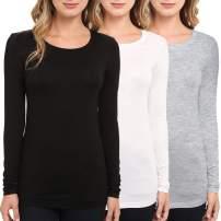 TAIPOVE Women's Long Sleeve T Shirt Cotton Long-Sleeve Crewneck T-Shirt Basic Layer Underscrub Tee Tops