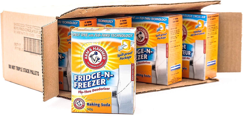 Arm & Hammer Baking Soda, Fridge-N-Freezer Pack, Odor Absorber, 17.6oz Pack, (case of 12)